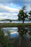 Lac Lugu dans Yunnan Chine Photo stock