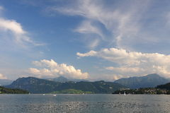 Lac Luzerne (Vierwaldstättersee) Photo stock