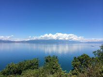 Lac Macédoine Ohrid Photographie stock