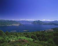 Lac Maggiore overview Vu de Mottarone, photos stock