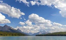 Lac Maligne Photographie stock