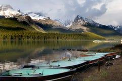 Lac Maligne Photos stock
