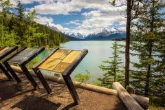 Lac Maligne en Jasper National Park Photos libres de droits
