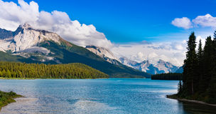 Lac Maligne, jaspe Images stock