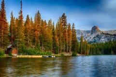 Lac Mamie Sunrise Boathouse Photos libres de droits