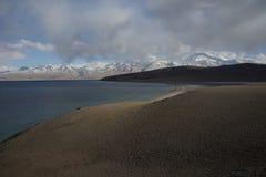 Lac Manasarovar au Thibet Photos libres de droits