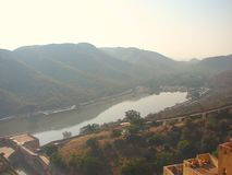Lac Maota, ambre, Jaipur, Ràjasthàn, Inde Photographie stock