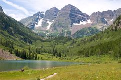 Lac marron Photo stock