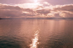 Lac martien Image libre de droits