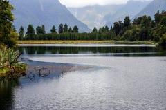 Lac Matheson, Nouvelle-Zélande image stock
