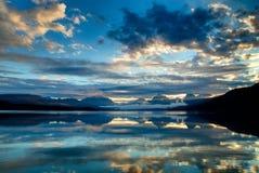 Lac McDonald en parc national de glacier, Montana, Etats-Unis photographie stock libre de droits