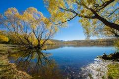 Lac McGregor, région de Cantorbéry, Nouvelle-Zélande Images stock