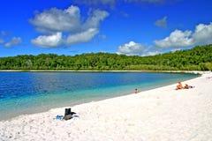 Lac McKenzie, île de Fraser, Australie images stock