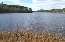 Lac Megunticook au centre Maine de Lincolnville photo stock