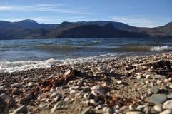 Lac Meliquina en visibilité directe les Andes, Argentine de San Martin De Images stock