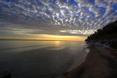 Lac Michigan - Milwaukee Photos libres de droits