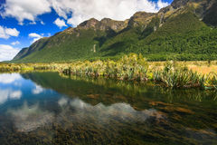 Lac mirror, Milford Sound Images stock