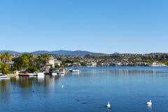 Lac Mission Viejo dans le Comté d'Orange Photos libres de droits