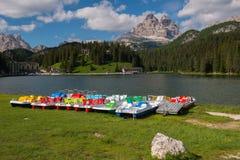 Lac Misurina, dolomites Photo libre de droits
