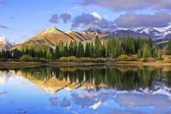 Lac Molas et montagnes d'aiguille, région sauvage de Weminuche, le Colorado images stock