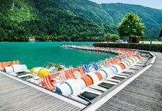 Lac Molveno, élu la plupart de beau lac en Italie Image libre de droits