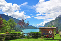 Lac Molveno, Italie Image stock