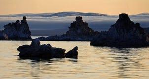 Lac mono au crépuscule de matin Images stock