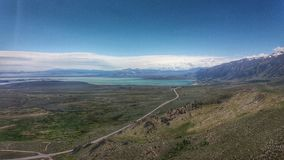 Lac mono et Hwy 395 photos stock