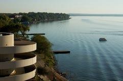 Lac Monona, Madison Wisconsin images libres de droits
