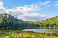 Lac in Mont-Tremblant national park. Lac Monroe in Mont-Tremblant national park, Quebec, Canada in summer Stock Photo