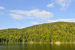 Lac in Mont-Tremblant. National park in sunshine, Quebec, Canada Stock Photos