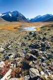 Lac, montagnes, désert Photographie stock