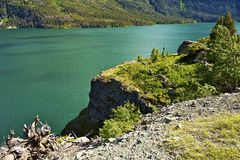 Lac Montana st Mary Photo libre de droits