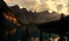 Lac Morain photographie stock libre de droits