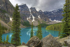 Lac moraine Images stock