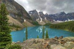 Lac moraine Photos stock