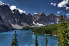 Lac moraine, stationnement national de Banff, Canada Images stock