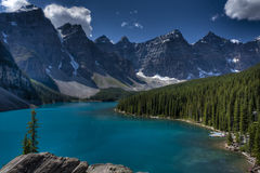 Lac moraine, stationnement national de Banff, Canada Images libres de droits