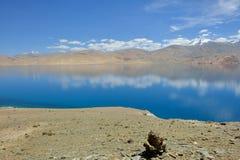 Lac Moriri dans Ladakh, Inde Photo libre de droits