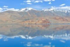 Lac Moriri dans Ladakh, Inde Images stock
