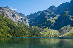 Lac Morskie Oko Photographie stock
