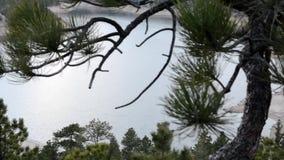 Lac mountain au coucher du soleil banque de vidéos