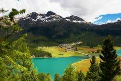 Lac mountain dans les Alpes Images libres de droits