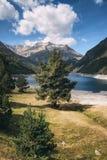 Lac mountain dans les Pyrénées dans les sud des Frances images stock