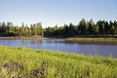 Lac mountain de l'Arizona Photos stock
