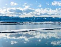 Lac mountain de ressort Images stock