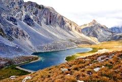 Lac mountain de Roburent, France Image libre de droits