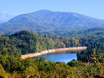 Lac mountain de Smokey Images libres de droits