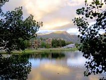Lac mountain en clef de voûte Images stock