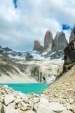 Lac mountain en parc national Torres del Paine, paysage de Patagonia, Chili, Amérique du Sud images libres de droits